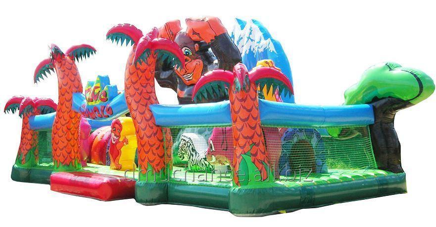 Kupić Wielki, nadmuchiwany plac zabaw - dżungla. 5,5 * 12m
