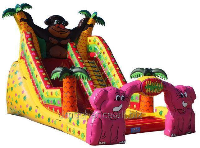 Kupić Zjeżdżalnia Junglemania z jednym torem, bardzo atrakcyjna dla dzieci i gwarantująca trwałość i bezpieczeństwo