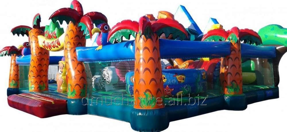 Kupić King Jungle - duży i atrakcyjny plac zabaw z górą wspinaczkowa i suchym basenem
