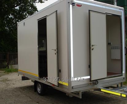 Kupić Przyczepy kwaterunkowe z możliwością noclegu dla 2-8 osób wyposażona w aneks kuchenny i toaletę.