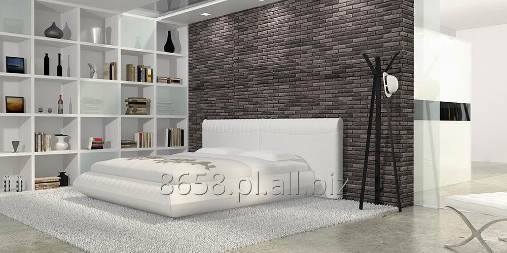 Kupić Łóżko Tapicerowane CUSCINO 180 x 200 cm Białe