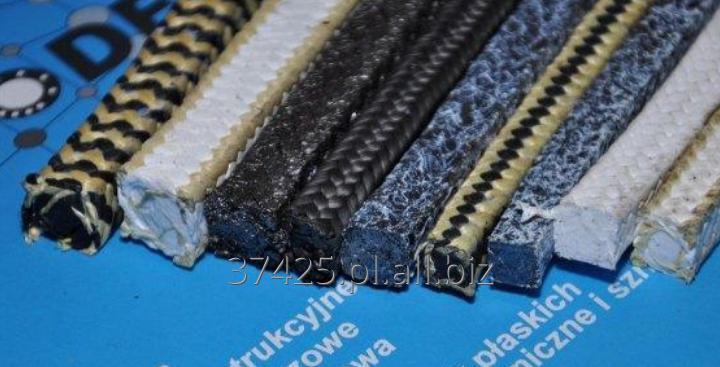 Kupić Uszczelnienia sznurowe bawełniane, z mieszanki PTFE, oraz z mieszanki PTFE i Grafitu syntetycznego .