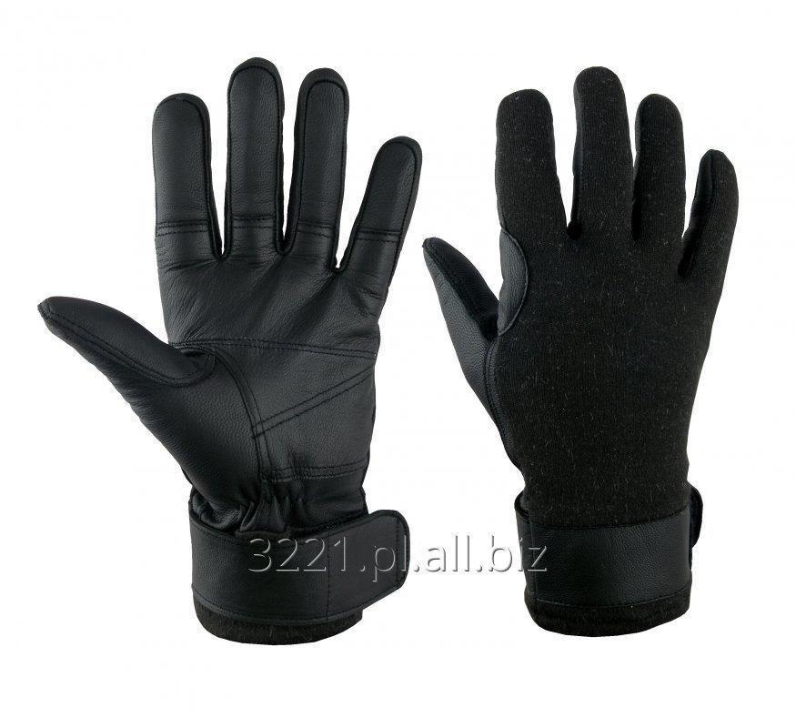 Kupić GLS 003 Rękawice taktyczne, krótkie, skórzane.