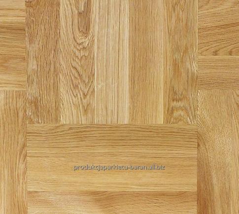 Deska parkietowa dębowa, dąb natur, naturalny kolor drewna dębu europejskiego.
