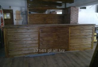 Kupić Kontuar, lada barowa lub portiernia wykonana z drewna.