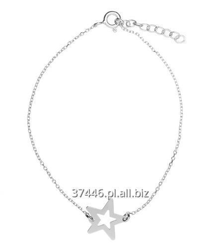 Kupić Piękna i subtelna srebrna bransoletka typu celebrytka to biżuteria którą pokochały gwiazdy, doskonała jakość, konkurencyjna cena, motyw gwiazdka.