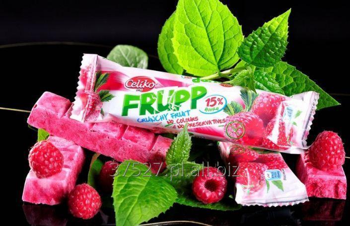 Kupić Chrupiący batonik owocowy - malinowy. Bez barwników i konserwantów.