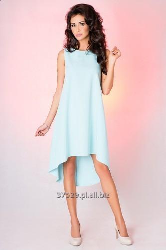 Kupić Miętowa asymetryczna sukienka