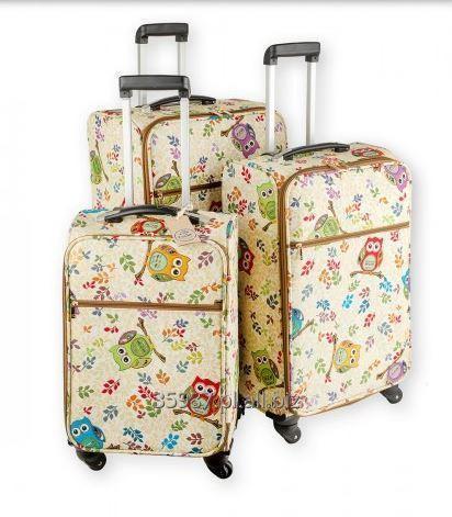 Kupić Gobelinowa walizka kabinowa na kółkach, wysuwana rączka