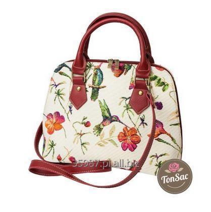 Kupić Elegancka i pakowna torebka damska ba pasku wykonana z tkaniny gobelinowej