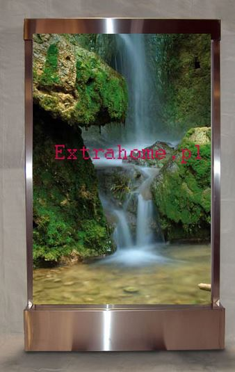 Mega Hit Fountain waterfall 200cm glass with each theme embedded with a glass ie company logo, picture