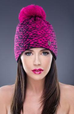 Kupić Różowa czapka z pomponem, wykonana z najwyższej jakości materiałów