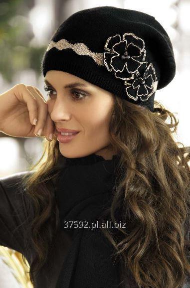 Kupić Elegancka czapka damska, wybór kolorów, ozdobne aplikacje, model Suzana