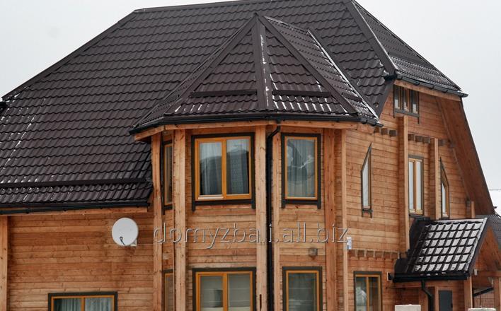 Kupić Domy z drewna wykonana z bali konstrukcyjnych typu sandwich.