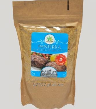 Kupić Bezglutenowa panierka do kotletów mielonych i innych potraw z mięsa, doprawiona.