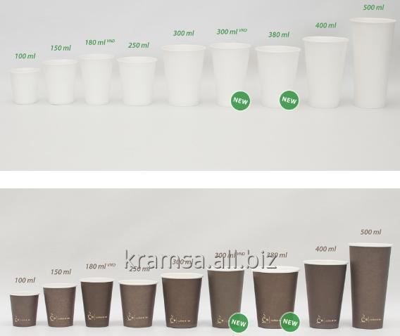 Kupić Kubki papierowe jednowarstwowe z nadrukiem indywidualnym od 100 ml do 500 ml