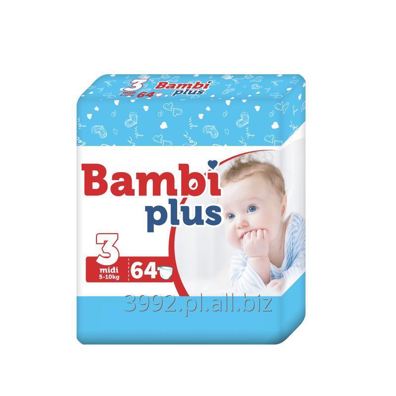 Kupić Pieluchy Bambi Plus Midi 64