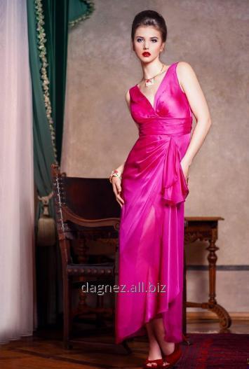 """Kupić Wioletta, efektowna długa suknia """"Grace style"""" z rozcięciem, z połyskliwego szyfonu. Idealna na wesele, studniówkę, sylwestra oraz inne imprezy."""