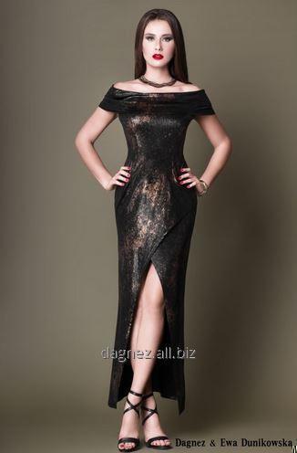 Kupić Tamara, długa, obcisła suknia wieczorowa z rozcięciem z przodu, bardzo kobieca. Świetna na sylwestra, studniówkę oraz inna okazję.