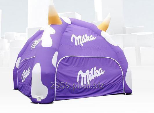 Spider,  inflatable tents, 4.5 or 6 feet, printed on the entire surface or point