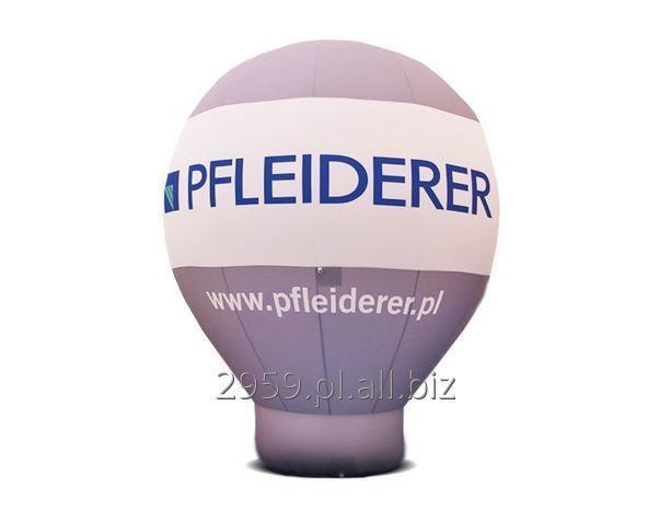 Balon Alfa z tkaniny poliestrowej 300g/m2 w kolorze standardowym albo w pełni zadrukowany za pomocą metody cyfrowej lub sitodruku.