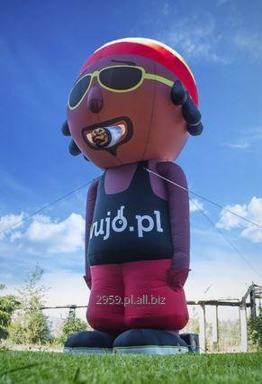 Inflatable advertising constructions in any shape and color