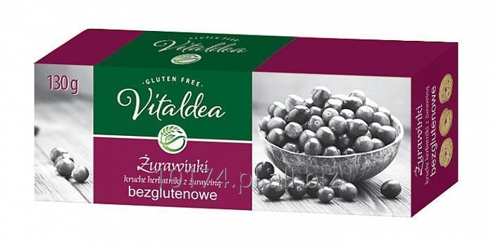 Kupić Vitaldea herbatniki Żurawinki 130g. Produkt bezglutenowy