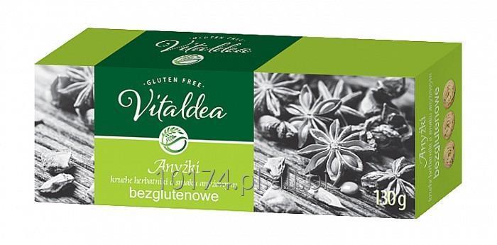 Kupić Vitaldea herbatniki Anyżki 130g. Produkt bezglutenowy