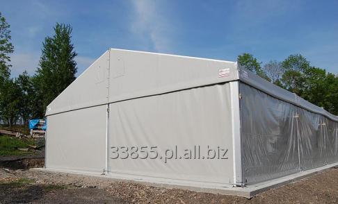 Kupić Hale namiotowe stalowe i aluminiowe z montażem, konstrukcje znajdują zastosowanie jako hale bankietowe, namioty na imprezy typu piknik, wesele, komunia, powierzchnie magazynowe i inne.
