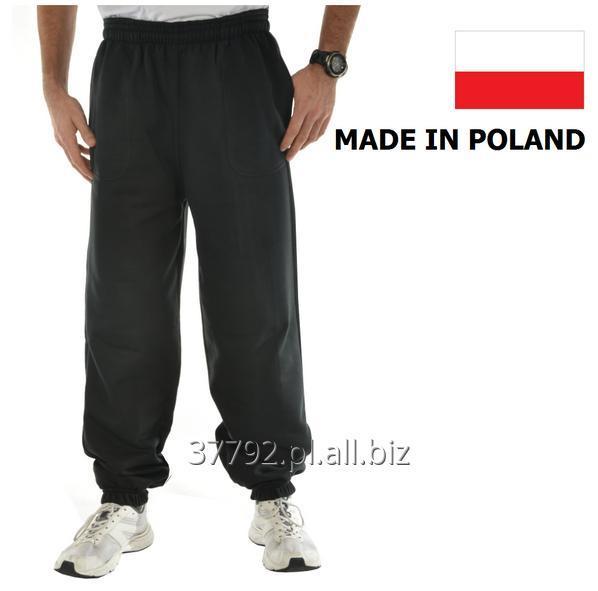 Kupić Spodnie dresowe męskie kolor szary melange, czarny i grafitowy, dostępny fason ze ściągaczami lub bez ściągaczy.