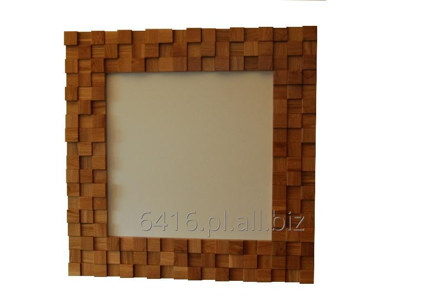 Kupić Lustro w ramie drewnianej 3D