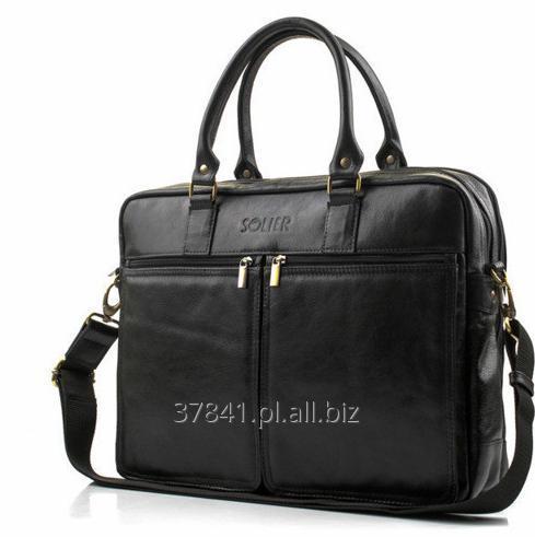 Kupić Męska torba na laptopa ze skóry naturalnej, na ramię.