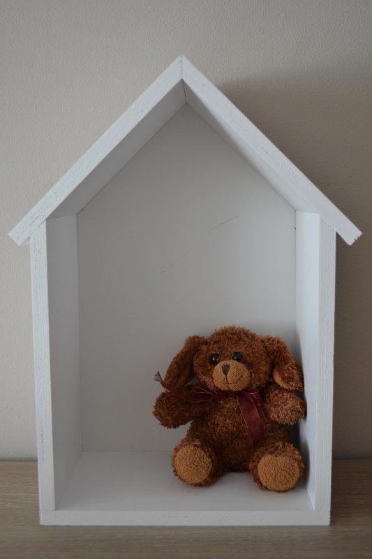Kupić Drewniana półka domek - styl skandynawski