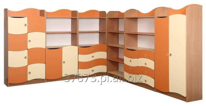 Kupić Zestaw mebli przedszkolnych z frontami w kształcie fali