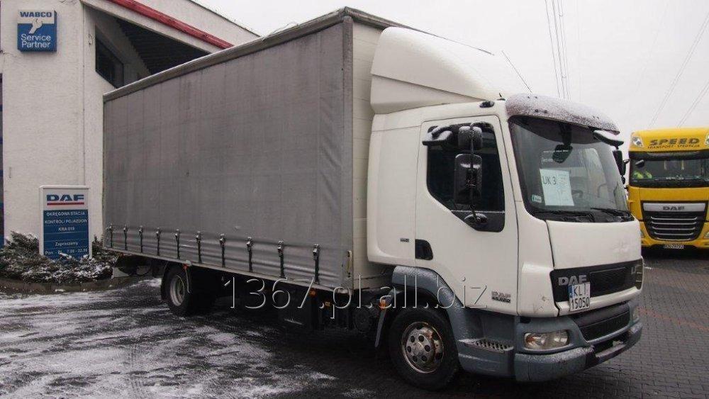 Kupić Samochód Ciężarowy DAF FA LF 45.220 Firana, Winda