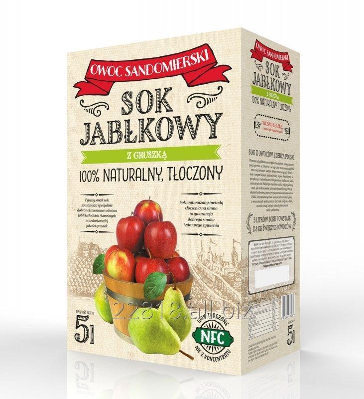 Kupić Sok jabłkowo-gruszkowy tłoczony karton bag-in-box