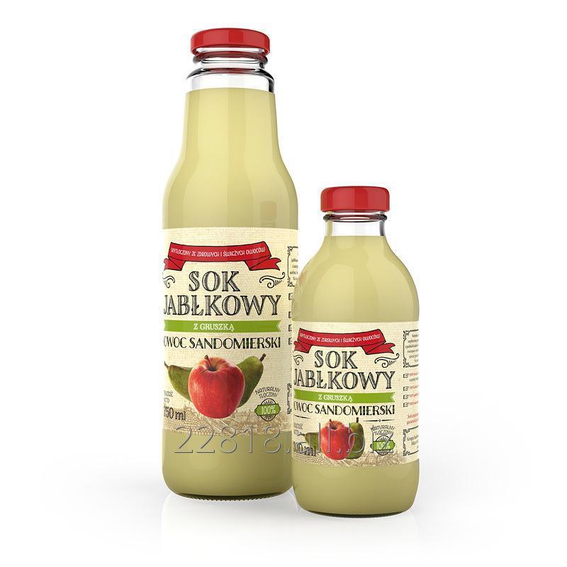 Kupić Sok jabłkowo-gruszkowy tłoczony butelka 330ml, 750ml