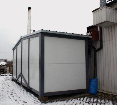 Kupić Kotłownia kontenerowa opalana paliwem stałym w postaci biomasy pochodzenia drzewnego