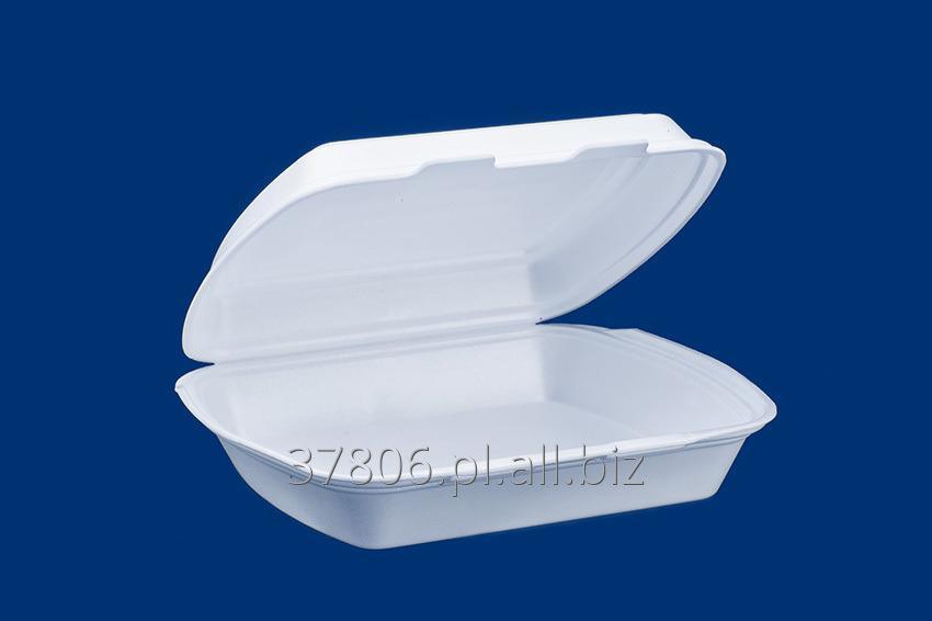 Kupić Opakowanie termiczne podtrzymujące temperaturę potrawy dla restauracji, barów i stołówek na posiłek na wynos, pojemnik styropianowy Menu-box jest niedzielony.