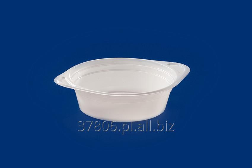 Kupić Miseczka z uchwytami na gorącą zupę i do dań typu instant, flaczarka z tworzywa PS o pojemności 500ml.