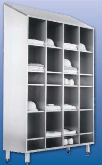Kupić Otwarta szafa metalowa na ubrania robocze