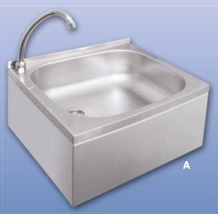 Kupić Umywalka ze stali nierdzewnej z włącznikiem kolanowym z ruchomą wylewką