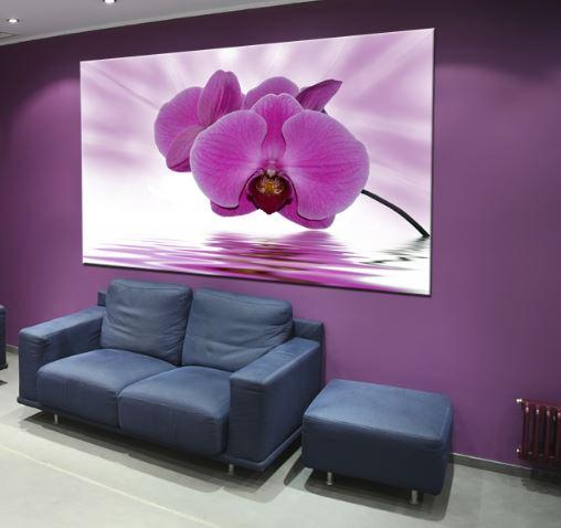 """2w1 Obraz za dnia w nocy lampka nowość """" Orchidea"""" 150cm/70cm"""