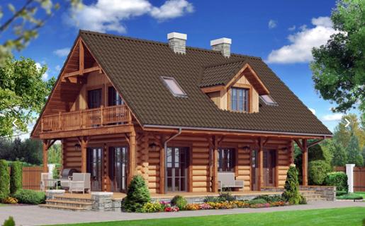 Obiekty rekreacyjne i wypoczynkowe: schroniska, sauny, spa, pensjonaty, domy myśliwskie i dla gości wykonane z sosnowych bali.