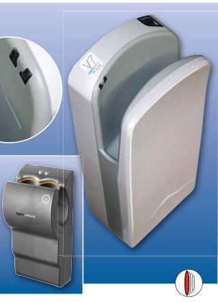 Бесконтактная сышилка для рук со встроенной антибактериальной системой Microban и воздушным фильтром Hepa