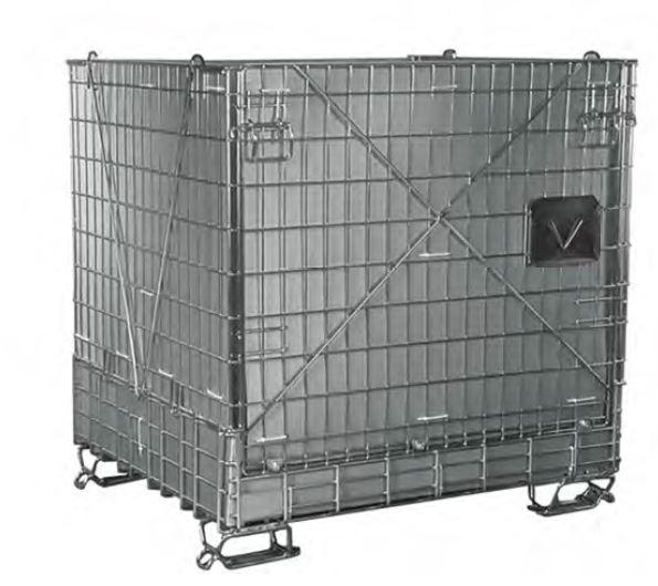 Pojemniki siatkowe z drutu stalowego z elementami z blachy