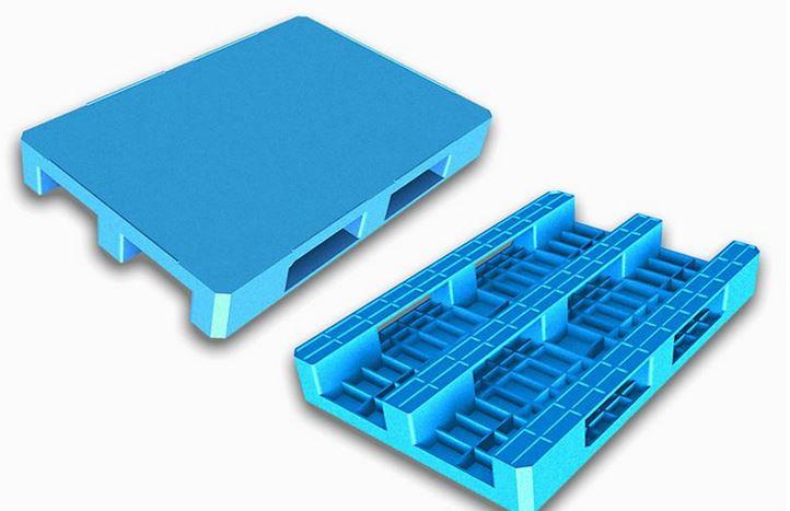 Paleta euro na płozach plastikowa odporna na uderzenia z powierzchnią antypoślizgową