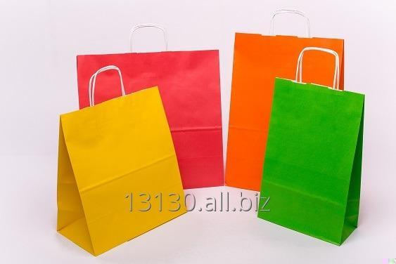 Buy Paper bags with handle screw (advertising, printed, occasional) 24x10x32 cm white