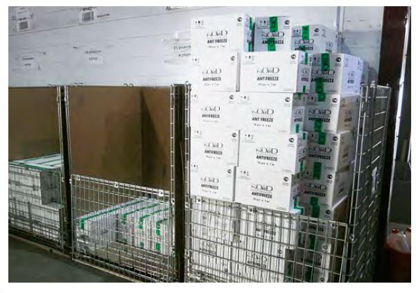 Kupić Wysokie pojemniki siatkowe z dzieloną ścianą przednią i wypełnieniem kartonowym