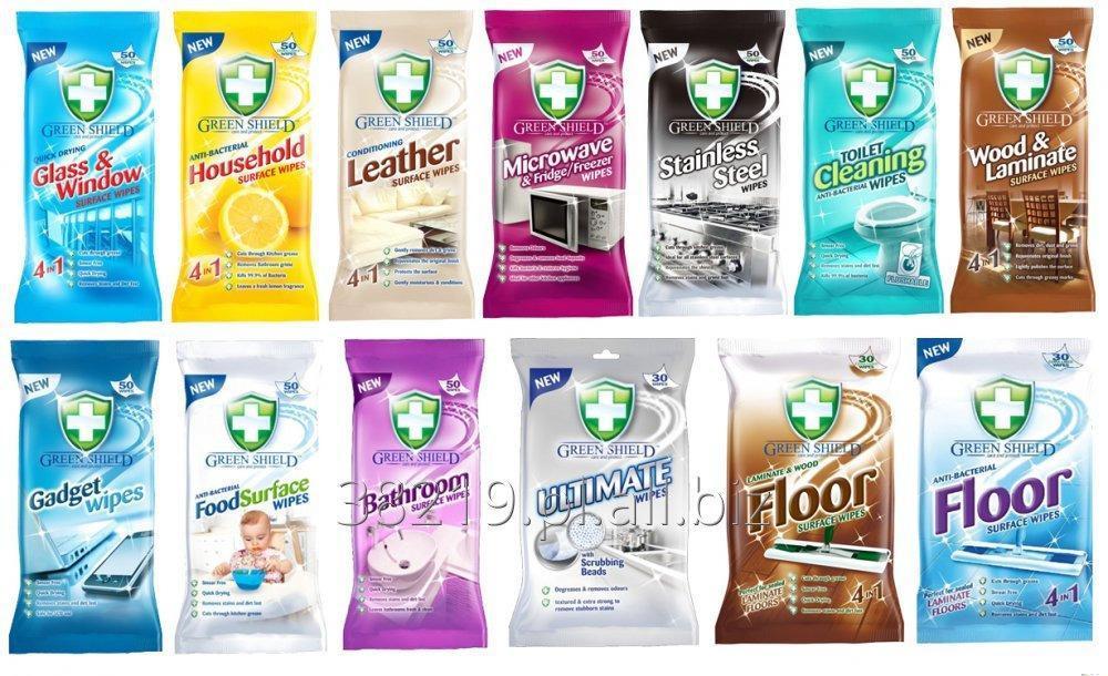 Kupić GREEN SHIELD - nawilożone chusteczki do czyszczenia